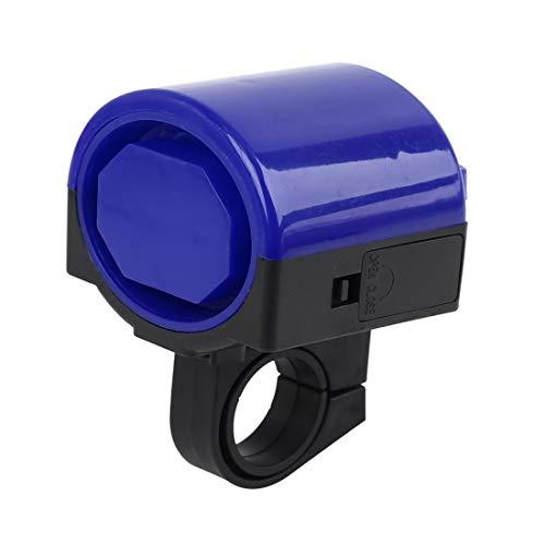 sourcing map 4Stk Fahrradklingel Sirene Elektrische Hupe Lenker Alarm Lautsprecher Blau