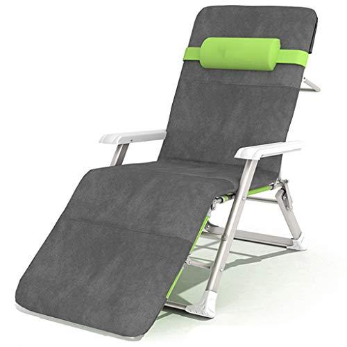 Fauteuil de terrasse de repos extérieur pour chaises de patio, fauteuil inclinable pliant réglable en textile résistant aux intempéries pour piscine (Couleur : Chair+cushion)