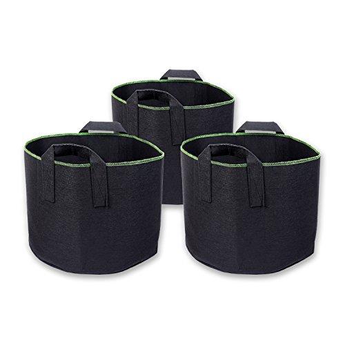 Schramm® 3 Stück 30 Liter Pflanzsäcke aus Vliesstoff Ø 36,5cm Pflanzsack Garten Sack aus Fliesstoff zum Bepflanzen Pflanzgefäß