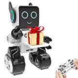 Robot Toy for Kids, Intelligent Interactive Remote Control Robot with Built-in Piggy Bank Educational Robotic Kit Walks Sings and Dance for Boys and Girls Birthday (White)
