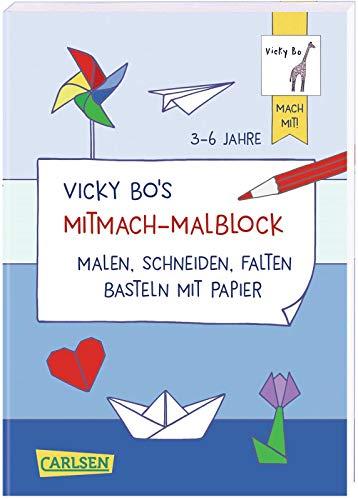 Vicky Bo's Mitmach-Malblock Papier: Malen, Schneiden, Falten, Basteln