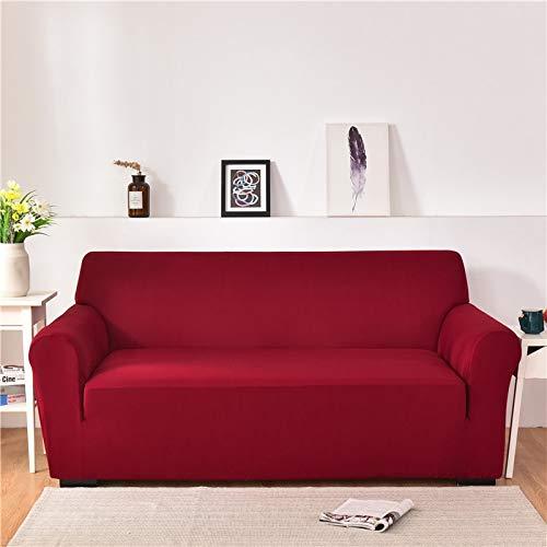 ASCV Fundas de sofá de Spandex para Sala de Estar Color sólido seccional en Forma de L Funda de Esquina Funda de sofá Protector de Silla A3 4 plazas