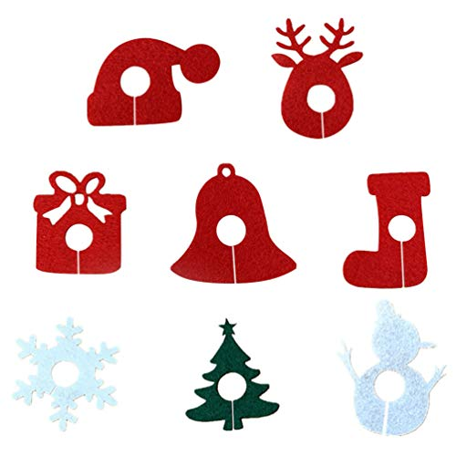 TOYANDONA 8pcs Christmas Wine Glass Charms Jingle Bell Snowflake Reindeer Goblet Drinking Glass Markers Tags Identifiers Drink Markers Wine Favors