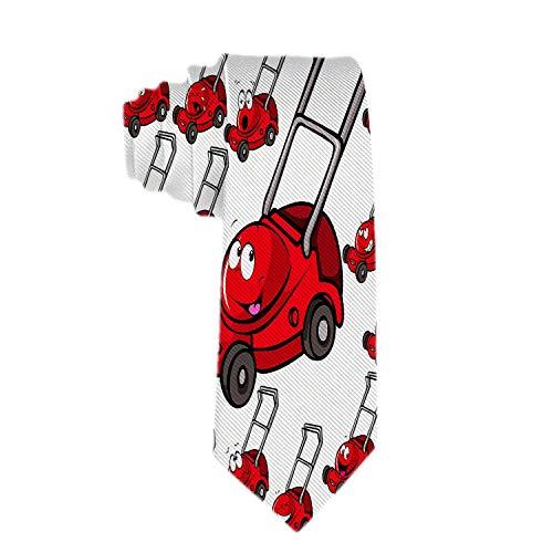 Anna-Shop Herren Krawatte Halskrawatte Neugebundene Rasenmäher mit Gesichtsbindungen Seidenkrawatte Personalisierte Geschenkkrawatten