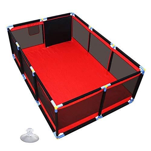 LXDDP Grand Parc pour bébé, cloison séparation Chambre rectangulaire rectangulaire Anti-Collision pour Enfant, barrière Treillis métallique Robuste, 128 × 190 × 66 cm (Couleur: Aucune Balle)