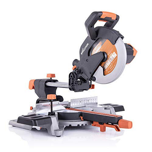 "Evolution Power Tools R255SMSL 10"" Multi-Material Compound Sliding Miter Saw"