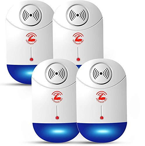 2020 Ultrasonic Pest Repeller, Pest Control Electronic Plug in Repellent Indoor for Flea, Insects, Mosquitoes, Mice, Spiders, Ants, Rats, Roaches, Bugs, Non-Toxic, Humans&Pets Safe 4 Pack