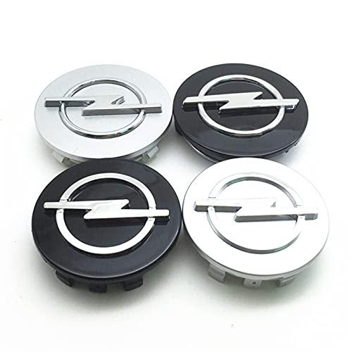 SYWY 4 unids de diámetro Exterior 56 mm 59 mm 60 mm 65 mm 68 mm Compatible con Opel Car Rims Caps Center Center Cubiertas Centro de Ruedas Centro Hub Cap Logo Insignia Emblema Accesorios