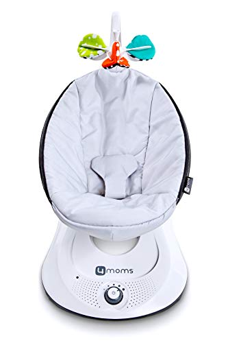 4moms rockaRoo - Compact Baby Swing, Baby Rocker with Front to Back Gliding Motion, Classic...