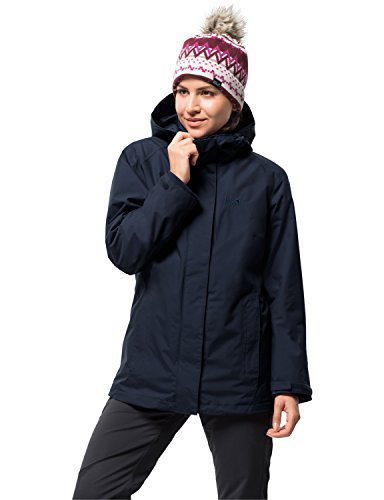 Jack Wolfskin Damen Iceland 3IN1 Women 3-in-1-Jacke Wasserdicht Winddicht Atmungsaktiv 3in1-jacke, Midnight blau, XL