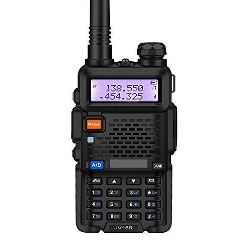 HGFDSA Walkie Talkies Radio Portatile Professionale a Lunga Distanza, Portatile 128 Canali con Caricatore Display a LED E Auricolari per Comunicazione in Bicicletta per Escursionismo per Adulti