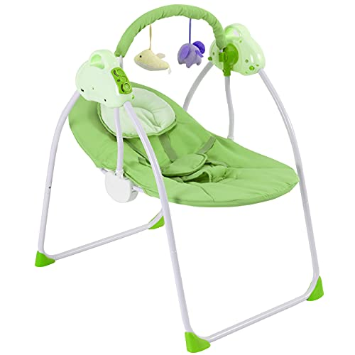 Reisebett Baby Zusammenklappbare Tragbare Babywiege 3 Schaukelgeschwindigkeiten Stubenwagen Komplett Set Beruhigende Musik Babykorb Lautstärkeregulierung Elektrisch Babybett Beistellbett