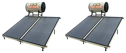 Sun Zone Solar 250 LPD Flat Plate Water Heater (Off-White, Pack of 2)