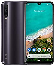 "Xiaomi Mi A3 Smartphone, 4GB RAM 64GB ROM Mobilephone, Pantalla AMOLED de 6,088"",Procesador Qualcomm Snapdragon 665 AIE,Triple cámara con IA (48 MP+8MP+32MP) versión Global (Grisáceo)"