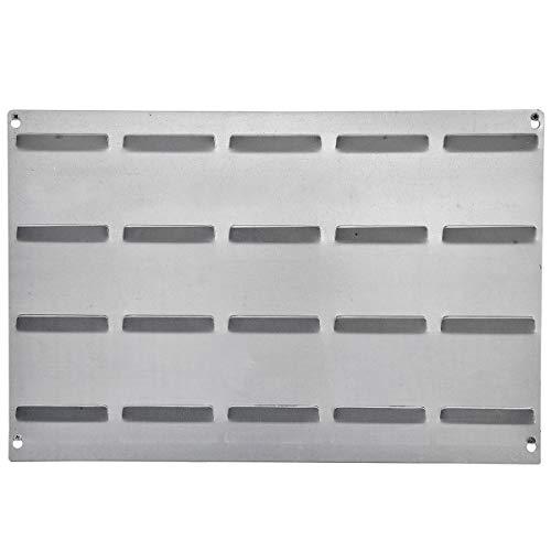 Metall Aufhängevorrichtung Wandplatte für 20 Sichtlagerkästen universell 57 x 38 cm Werkstattwand Schraubenregal mit Einlässe