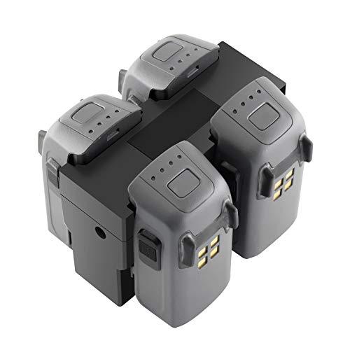 Tineer Rapid - Cargador paralelo con pantalla y estación de carga de batería múltiple para dron DJI Spark