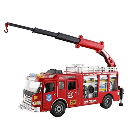 STBAAS Coche de Juguete, 1:50 Alloy Metal Metal Metal Rescue de Emergencia Fire Truck Crane Simulación Ingeniería Vehículo Modelo Boy Girl Colección cognitiva Regalo
