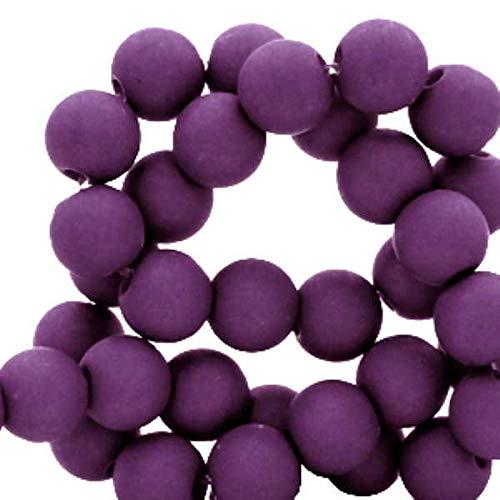 Sadingo Perlas acrílicas de 6 mm, color lila mate (600 unidades) para pulseras, perlas de plástico, perlas de joyería para manualidades