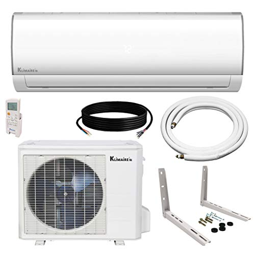 Klimaire Ductless Mini-Split Inverter Air Conditioner Heat Pump System with 15 Ft. Installation Kit