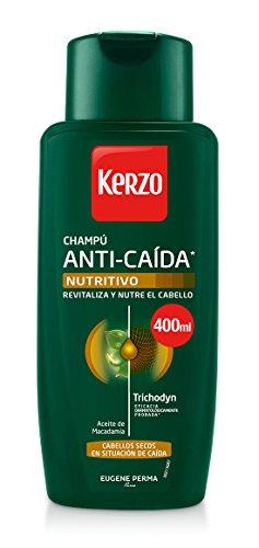Kerzo Champú Anticaída Nutritivo para Cabellos Secos - 3 Recipientes