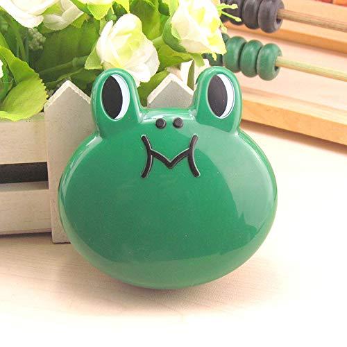 HSDDA Creative Frosch Form Kontaktlinsenbehälter Travel Kit Fall Studenten (grün)