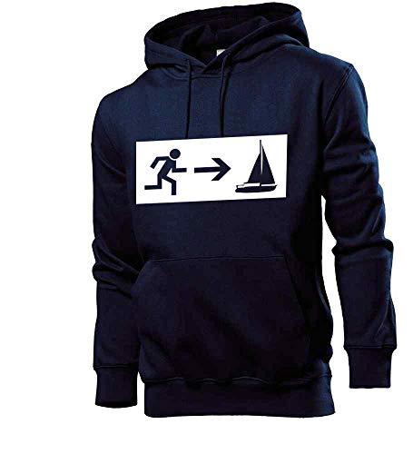 Generisch shirt84.de - Sudadera con capucha para hombre, diseño de barco marinero azul marino L