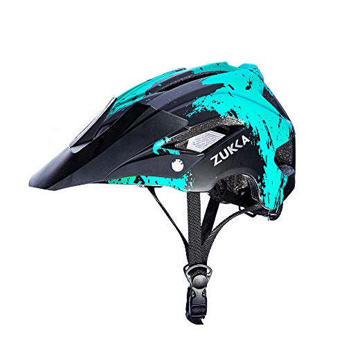 ZUKKA Adult Bike Helmet,CPSC Certified Cycling Helmets for Men/Women Safety Protection,Road Mountain Bicycle Helmets with Adjustable Size/Detachable Visor and Liner,22-24 Inches