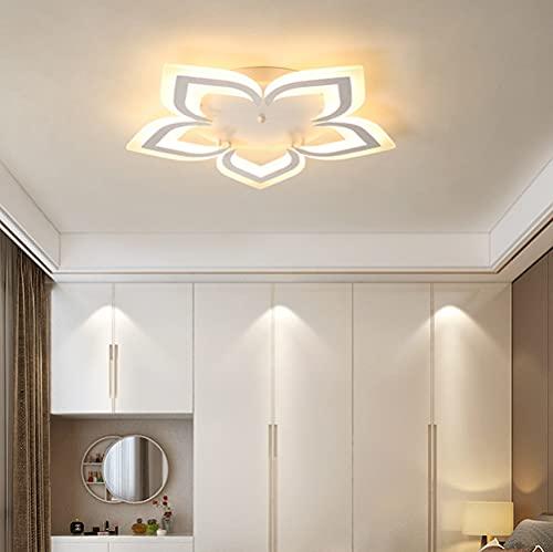 Lámpara LED de techo para dormitorio salón regulable moderna y elegante con mando a distancia lámpara colgante para habitación infantil comedor para niñas cocina pasillo baño habitaciones decor