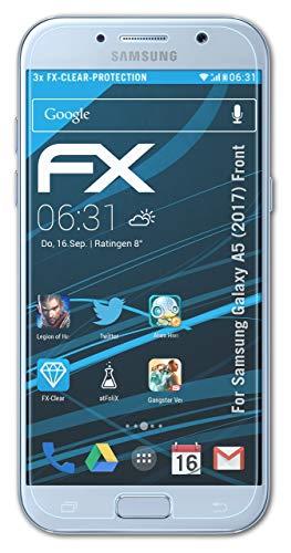 atFolix Schutzfolie kompatibel mit Samsung Galaxy A5 (2017) Front Folie, ultraklare FX Bildschirmschutzfolie (3X)