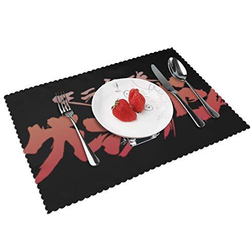 Juego de 4 manteles individuales de Street Fighter para mesa de comedor, resistentes al calor, antideslizantes, lavables