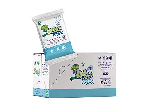 Kandoo Aquas - Estuche de 15 toallitas desechables multiuso 99% agua estuches de viaje 12 unidades