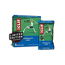 CLIF BARS - Energy Bars - Chocolate Chip - Made with Organic Oats - Plant Based Food - Vegetarian -