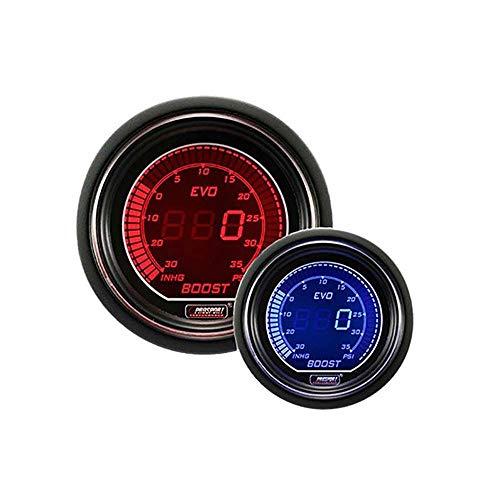 Prosport Gauges EVO Series Red Blue Dual Color Digital Boost Gauge Kit