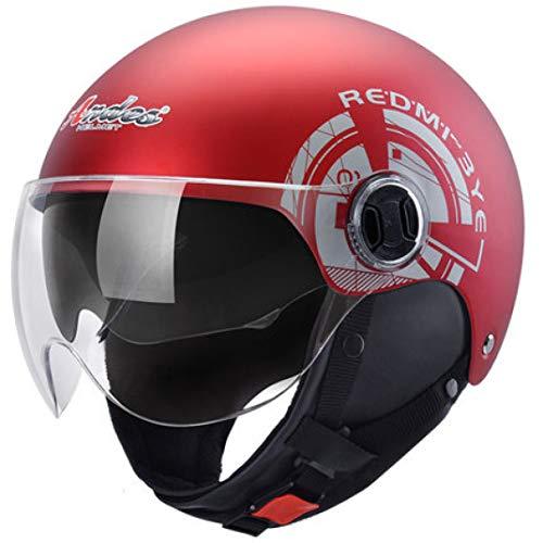 OLEEKA Casco Motocicleta Motociclista Montar Scooter Unisex Casco Protección UV Flip Up 17 Visores Motocross Casco Moto