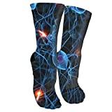 antspuent 3D Brain Cell Neuron Neurology Compression Socks Unisex Fun Novelty Crazy Dress Crew Socks