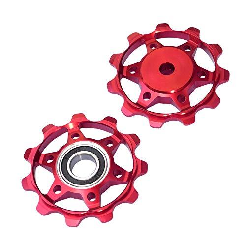 NC-17 Fahrrad Schaltrollen/Schaltwerk/Schalträdchen/Pulley/für Shimano/SRAM/Campagnolo Schaltwerkrollen, Rot, One Size