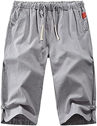 Men's Linen Drawstring Shorts Casual Baggy Waist 3 cheap Pan Max 69% OFF 4 Elastic