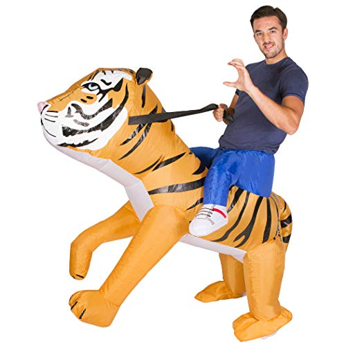 Bodysocks® Aufblasbares Tiger Kostüm für Erwachsene