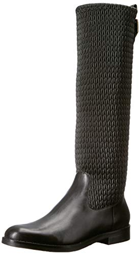 Cole Haan Women's Lexi Grand Stretch Boot Mid Calf, Black Leather, 7.5 B US