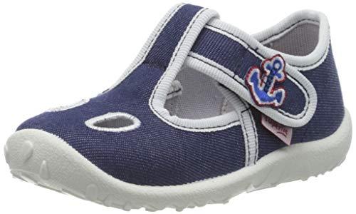 superfit Spotty, Zapatillas de Estar por casa, Azul (Blau 80), 18 EU