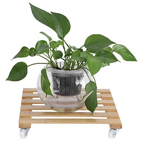 Carrito para plantas, soporte para plantas de servicio pesado, macetas para plantas de flores Rodillo de base Bandeja móvil Bastidor Soporte de jardín con ruedas Carretilla para macetas de interior pa