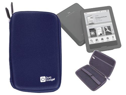 DURAGADGET Funda Azul Rígida con Cierre De Cremallera para eBook BQ Cervantes Touch Light con Bolsillo De Rejilla Interno