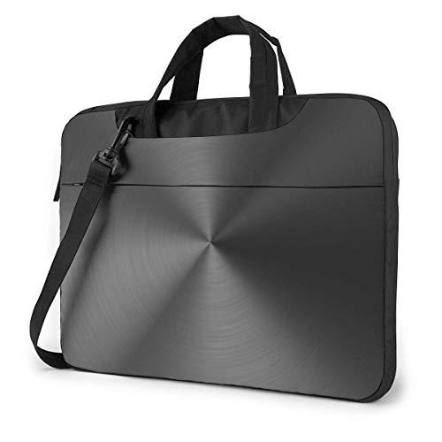 Laptop Shoulder Bag,Black Metallic Luster Shockproof Laptop Sleeve Cover Business Messenger Bag Briefcase Handbag Case 15.6 inch