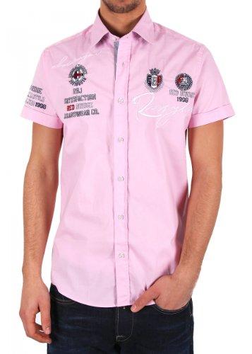Redbridge by Cipo & Baxx Herren Hemd R-2122 pink Größe M