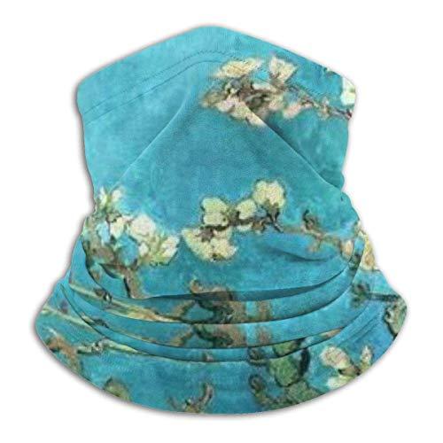 senob Blossom Headwear Neck Gaiter Warmer Winter Ski Tube Scarf Mask Fleece Face Cover Windproof for Men Women Customized