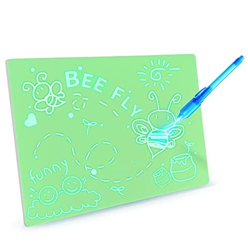 AGM Lavagnetta Luminosa Per Disegnare,viene Fornito Con Lavagna Per Fotocopie Ed Evidenziatore, Adatto Per Educatori, Giocattoli Educativi Per Bambini, Tavoli Da Disegno Doodle, Regali Di Compleanno