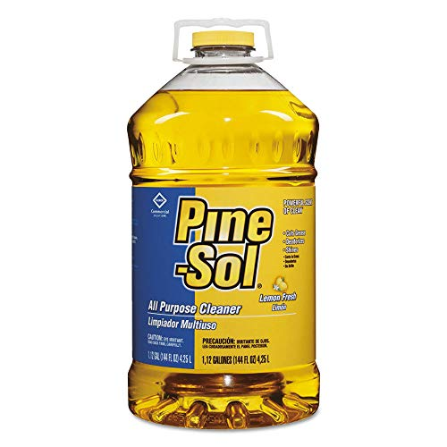 Pine-Sol 35419 All-Purpose Cleaner, Lemon, 144 Oz, 3 Bottles/carton