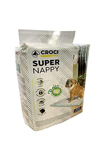 CROCI DAISY SUPER NAPPY, Tappetino Ultra Assorbente, Tappetino Antiodore e Profumato, Set di 30, Dimensioni 57x54