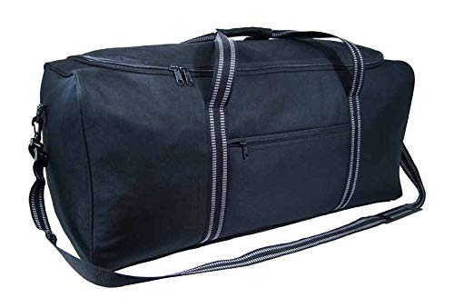 Foldable Travel Duffel Bag, Over-Sized Luggage Extra Large 34' / 86cm 120 litres Lightweight Black Sports Holdall Travel Storage Cargo Overnight Bag