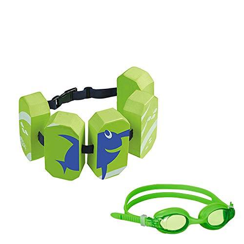 Beco Sealife SET Schwimmgürtel & Schwimmbrille grün Wassersport Kinder Aqua